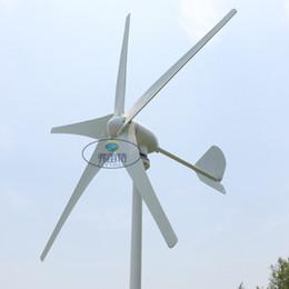 Ingrosso Vendita 500W 24V 5 lame basso start up velocità orizzontale residenziale generatore di turbina eolica basso prezzo fabbrica alta buona più economica