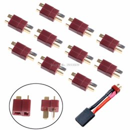 $enCountryForm.capitalKeyWord NZ - 10 Pairs T Plug Male & Female Deans Connectors Style For RC LiPo Battery New -B116