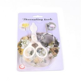 Discount scissors stand - 2Pcs Set Icing Piping Scissors Flower Stand Nail Cake Decorating Pastry Tools