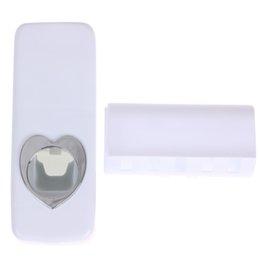 Творческий настенный Дозатор зубной пасты и держатель зубной щетки HolderToothbrush ленивый зубная паста автоматическая машина (Белый)