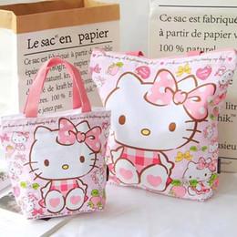 Kawaii Hello Kitty Bag Bear Rabbit Canvas Shopping Bag handbags Foldable  Folding Grocery Bags Large Eco Cartoon Tote Bags cad41841b9