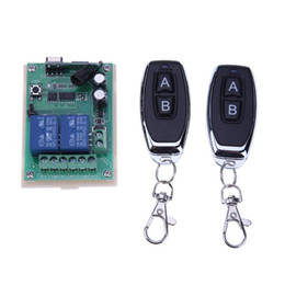 Wireless Door Key NZ - Accessories Parts Control 12V 24V 433Mhz 2 Channel Relay Wireless Remote Control Switch + 2pcs Two Keys Remote Controls for Garage Door