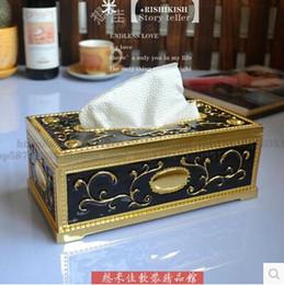 $enCountryForm.capitalKeyWord NZ - luxury antique carved metal tissue box tissue box holder napkin holder paper towel for home decor ZJH016