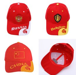 1407454cc49 World Cup Football ball Cap Snapback 2018 Russia FIFA Player baseball Caps  Fans gifts Hats team logo hat Soccer Fans Souvenir sunhat hot