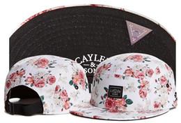 Discount cayler sons flower - free shipping Swag Cayler Sons Snapback Caps Hundreds flower Bone 5 panel hat Hip-Hop Cap Casquette Baseball cap Hats Fo