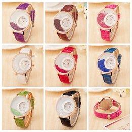 ball watches quartz 2018 - 8colors Ladies Quicksand Ball Belt Watch Fashion waterproof PU Belt Watch Rhinestone watch Kids quartz jewelry GGA816 60
