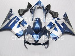 f4i fairings UK - Body repair parts for HONDA CBR600F4I 2004 2005 2006 2007 Injection fairings cbr600 f4i CBR600 f4i 04-07 Blue gray fairing kit a2