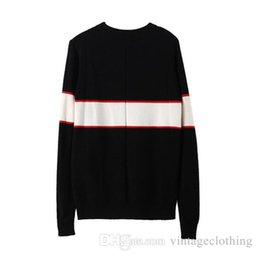 Men coMputers online shopping - Autumn Winter Black Sweaters Men Fashion Long Sleeve Letter Print Couple Sweaters Loose Pullover Designer Sweaters