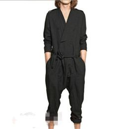 Discount mid hair lengths - M-XXXXL Europe and the United States large size casual jumpsuit men loose jumpsuit hair stylist fashion wild jumpsuits
