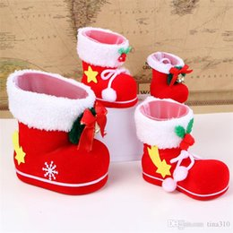 Free Christmas Gifts For Children Australia - New Christmas Boots Candy Box Christmas Decoration Christmas Candy Bags Lovely Gifts Stocking For Children free shipping B0881