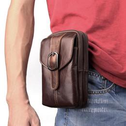 $enCountryForm.capitalKeyWord NZ - Wholesale Universal Holster Belt Clip Waist Men Flip Genuine leather Cover Bag Vertical Mobile Phone Case for iphone X 8 Plus Galaxy S9 Plus