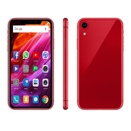 wireless charger cell phones 2019 - Goophone xr 6.1inch cell phones Android Mobilephone 1G ram 4G  8G 16 rom 16G Face ID MT6580P show 4G LTE Smartphone chea