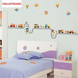 Wallpapers Walls Cartoons Australia - DIY Wall Sticker Cartoon Car Wallpapers All-match Style Art Mural Waterproof Bedroom Wall Stickers Home Decor Backdrop