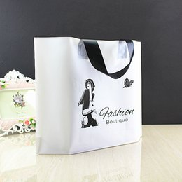 $enCountryForm.capitalKeyWord NZ - White Frosted Garment Bag Fashion Sakura Clothing Store Pouch Black And White Cosmetic Plastic Bags