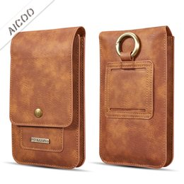 Branded leather Bags for men online shopping - Luxury PU Leather Holster Waist Man Flip Leather Case Cover Pouch Bag with Card Slot Buckle For Iphone XS MAX XR Samsung Opp Bag