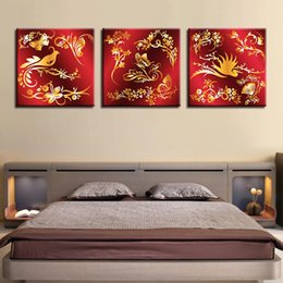 art canvas prints Australia - Canvas Wall Art Pictures Framework For Living Room Decor 3 Pieces Bird Butterfly Flowers Swan Paintings HD Prints Pattern Poster