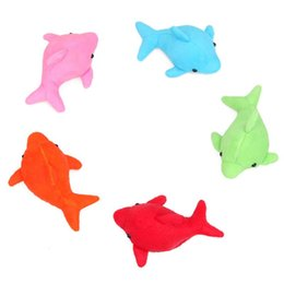 China HBB 1PC Novelty Absorbs Water Dolphin Plush Doll Toy Bath Toy Stuffed Kid Baby Toys Doll 5 Colors cheap dolphins toy doll suppliers