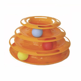 New Crazy Toys NZ - New Funny Pet Toys Cat Crazy Ball Disk Interactive Amusement Plate Play Disc Trilaminar Turntable Cat Toy High Quality