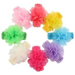 $enCountryForm.capitalKeyWord UK - Chiffon Flower Hair Clip Barrette Bobby Pin Head Band Fashion Accessories for Kids Gift Drop Shipping