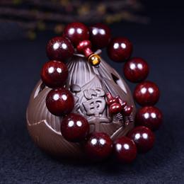 Discount oil bracelets - Wholesale Authentic Lobular Red Sandalwood Wooden Bracelets High Oil Buddha Round Beads Tiger eye models Hand String Jew
