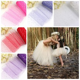 Glitter Party Decorations Australia - Glitter Sequin Tulle Roll 10 25 yard 15cm Spool Tutu Wedding Decoration Organza Laser DIY Craft Birthday Party Supplies