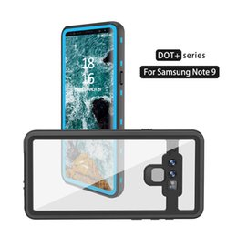 Funda transparente impermeable para Samsung Galaxy Note 9 Redpepper Original Brand Dot + Series Funda submarina para buceo