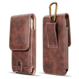 $enCountryForm.capitalKeyWord UK - Universal Belt Clip Case Waterproof Case Premium Leather Pouch Holster Case For Samsung iPhone 4.7 5.5 inch
