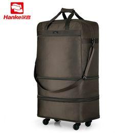 $enCountryForm.capitalKeyWord Canada - Hanke Foldable Luggage Garment Bag Spinner Wheels Men Women Expandable Suitcases Male Super Large Travel Duffel Tote Bag