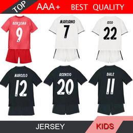 Real madRid socceR jeRsey kids Ronaldo online shopping - MARIANO Real Madrid SERGIO RAMOS kids soccer jersey kits child jerseys kits RONALDO Asensio MODRIC MARCELO BALE ISCO jerseys