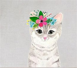 InsulatIon pad waterproof online shopping - Lovely Cartoon Cat Design Pad Insulation Waterproof Anti Scald Mat Cute Kitty Cotton Table Cloth Creative Mat For Home Fun Decoration ct Z