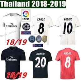 ce79023d473 2018 2019 Soccer Real Madrid Jersey Men La Liga 4 SERGIO RAMOS 10 MODRIC 11  BALE 20 ASENSIO 22 ISCO Football Shirt Kits