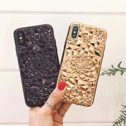 Chinese  Three-dimensional Diamond Flower Colorful Phone Case High Quality TPU Soft Case For iPhone X iPhone 8 Retail Package manufacturers