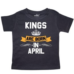 Inktastic Kings Are Born In April Toddler T Shirt Birthdays Adult King Month For