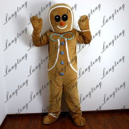 2018 new high quality gingerbread man mascot costumes for adults circus christmas halloween outfit fancy dress suit free shipping