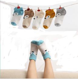 Wholesale best summer cartoons for sale – custom 5 Pairs INS Ankle Socks Summer fox cartoon design Cute invisible socks Boys Girls Stockings Hosiery Short Socks striped Boat Sock best