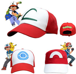 5d0b8d148ebb6 Anime Pocket Pikachu Baseball Cap Monster Cosplay Costumes Hats Cartoon Cap  Ash Ketchum Outdoor Sun Hat Cheap