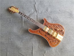 Chinese  new store custom RK 6 string carved body lemmy kilmister Rick 4003 neck through electric guitars manufacturers