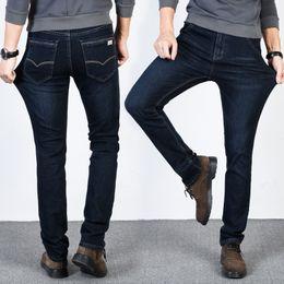 Big plus size clothes online shopping - Medium New Jantour Luxury Jeans Men Fashion Brand Clothing Male Blue Pants Man Quality Flannel Casual Trousers Jean Big Size