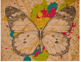 Decorative Printed Wallpaper NZ - 3D Wallpaper Mural Vintage Hand Drawn Doodle Pattern Butterfly Decorative Painting Art Mural for Living Room Large Painting Home Decor