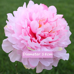 Wholesale 2018 New Blooming Peony Silk Big Head Flores High Quality Artificial Flowers Home Wedding Party Decor DIY Marriage Accessoies