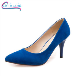 Woman shoes size 31 online shopping - Plus Size Women Pumps Sexy Pointed Toe Solid Color High Heel Shoes Women Sweet Party Dress Office Working Shoes