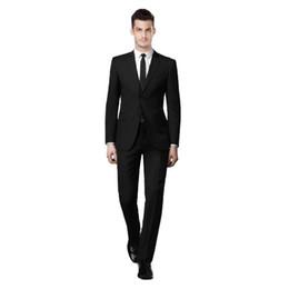 $enCountryForm.capitalKeyWord UK - Black Men Suits Formal Business Suit Wedding Groom Tuxedos Slim Fit Groomsmen Dress 2 Pieces Jacket Pants Two-Button Notched Lapel