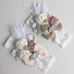 $enCountryForm.capitalKeyWord Australia - 2018 New Baby Girl Headdress Three Rolls of Rose Bow Children's Wide Headband Europe and The US Mesh Hair Band Hair Accessories