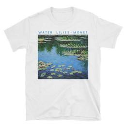 Women s Tee Claude Monet Painting Water Lilies T Shirt Ladies Summer Tops  Tees Tumblr Graphic Shirts Art Aesthetic Short Sleeve White Tshirt d1881e56f82f