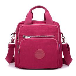 $enCountryForm.capitalKeyWord Canada - Women Messenger Bag Ladies Crossbody Bags Handbag Waterproof Nylon Zipper Pocket Solid Shoulder Packet Lady Tote Package