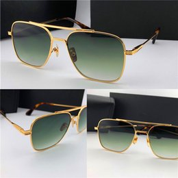 4d5832bb8c New men brand designer sunglasses 007 square metal frame gold plated  ultralight UV400 lens top quality simple protection wholesale eyewear