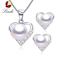 $enCountryForm.capitalKeyWord UK - White pink purple 3 colors natural pearl jewelry set true love 925 sterling silver jewelry best gift for women