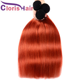 Discount clearance brazilian human hair - Clearance Sale Straight Ombre Bundles Colored 1B 350 Peruvian Virgin Human Hair Weave 3 Piece Two Tone Golden Blonde Omb