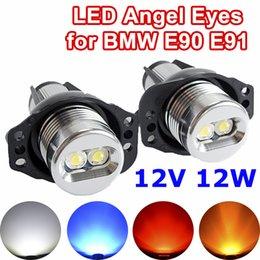 Flytop 2 шт. (1 компл.) 2 * 6 Вт 12 Вт LED маркер глаза ангела для Bridgelux чип белый / синий для E90 E91 бесплатная доставка на Распродаже