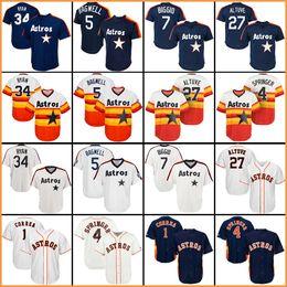 79145122a 2018 baseball jerseys Houston jersey Astros 4 George Springer 1 Carlos  Correa 27 Jose Altuve 34 Nolan Ryan dfde